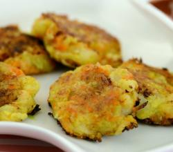 Cheesy Corn and Vegetable Cutlets (Toddler) by Tarla Dalal