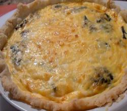 Cheesy Onion and Swiss Chard Quiche