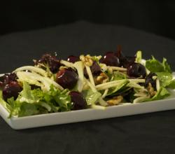 Cherry, Apple and Fennel Salad with Walnuts