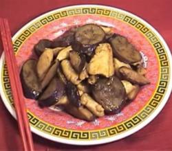 Chinese Stir Fry Chicken with Eggplant