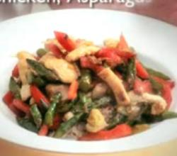 Chicken, Asparagus, and Bell Pepper Stir Fry