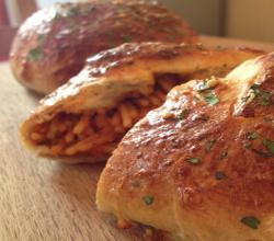 Chicken Parmesan Stuffed Bread Rolls