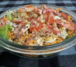 Chicken Kebabs Salad