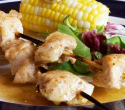 Chicken Kebabs with Honey Mustard Sauce