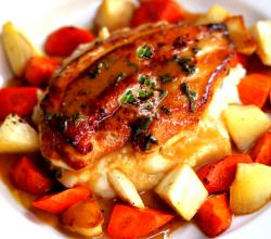 Japanese Chicken, Carrots, And Parsnips
