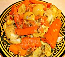 Chicken Tajine with Carrots