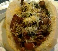 Chili Bacon Cheese Hot Dog