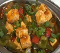 Chili Paneer or Chilli Tofu - Indo Chinese