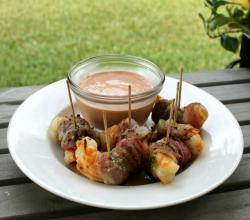 Bacon and Hatch Chili Wrapped Shrimp