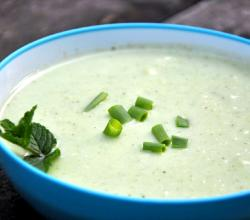 Chilled Yogurt And Cucumber Soup