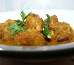 Chingri Kopta (Shrimp Ball in Curry)