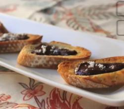 Chocolate Crostini With Sea Salt Topping