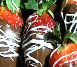 Infused Chocolate Covered Strawberries (Injected with Moscato)