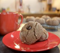 Cocoa Peanut Butter Cookies with Jam