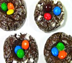 Cocoa Thumbprint Cookies
