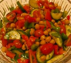 Mediterranean Style Colorful Chickpea Salad