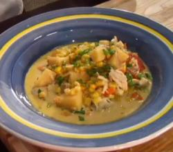Corn Potato and Crabmeat Chowder