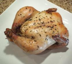 Chestnut Stuffed Cornish Game Hens