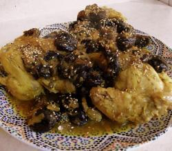 Moroccan Cornish Hens with Caramelized Prunes