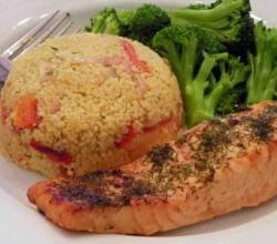 Couscous Pilaf with Salmon