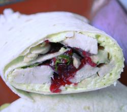 Cranberry-Turkey Wraps