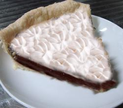 Creamy Chocolate Bavarian Pie