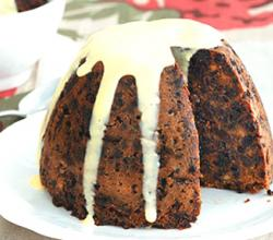 Creamy Topped Plum Pudding