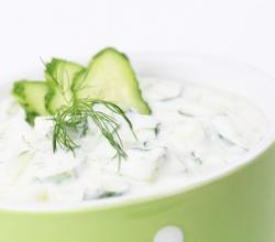 Fat Free Yogurt and Cucumber Dip