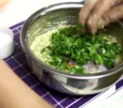 Split Moong Dal Fritters  Batter Mix Preparation Part 4