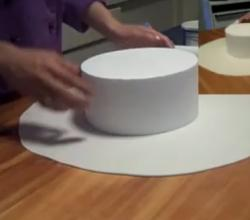 Decorating a Dummy Cake with Fondant - Part 1
