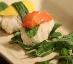 Coconut Rice & Fruit Sushi Dessert