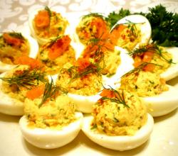 Deviled Eggs with Salmon