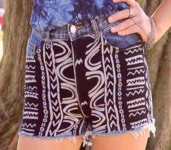 Fashion DIY: Aztec Print Shorts