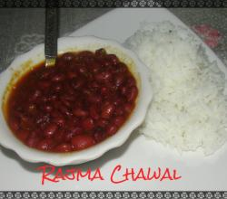 Lal Rajma Curry In Onion Tomato Masala With Simple Boiled Rice