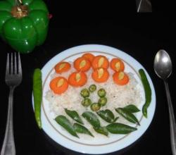 Tri Colour Coconut Rice in a Jiffy!