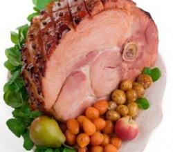Baked Ham with Beer and Sultana Sauce