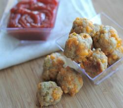 Easy Sausage Cheese Balls (Without Bisquick)