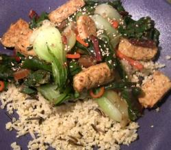 Easy Stir Fry with Tempeh and Vegetables