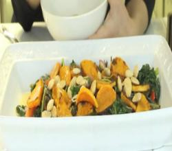 Easy Yet Amazing Kale and Butternut Squash Dish