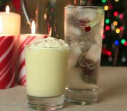 Eggnog And White Cranberry Spritzer