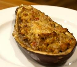 Eggplants Filled With Sausage Jambalaya