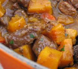 Beef Stew with Blood Oranges & Butternut Squash