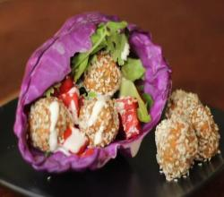Raw Vegan Falafel with Tahini Dressing (Super Yummy!)