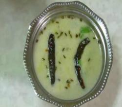 Farali Kadhi for Upvas - Hot Yogurt Soup for Fasting