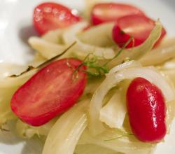 Fennel Salad With Red Onion And Sun Dried Tomatoes
