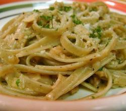 Fettuccine With Fresh Herb And Parmesan Sauce