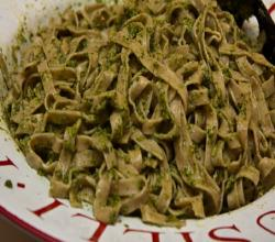 Fettuccine With Olive Pesto