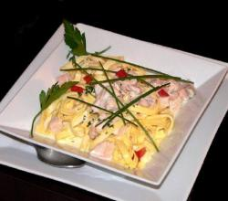 Fettuccine with Smoked Salmon and Vodka