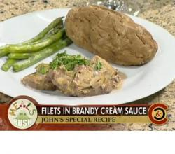 Beef Fillet in Brandy Cream Sauce