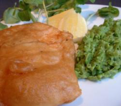 Deep-Fried Fillet Of Cod In Beer Batter